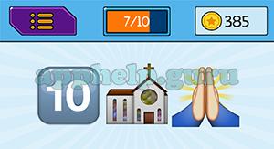 EmojiNation: Emojis 10, Church, Pray Answer