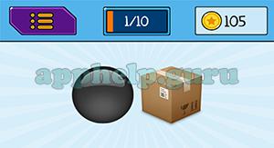 EmojiNation: Emojis Black Circle, Box Answer
