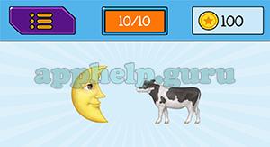 EmojiNation: Emojis Moon, Cow Answer