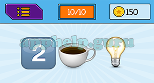 EmojiNation: Emojis 2, Coffee, Lightbulb Answer