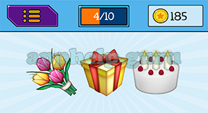 EmojiNation: Emojis Flowers, Present, Cake Answer