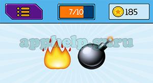 EmojiNation: Emojis Fire, Bomb Answer