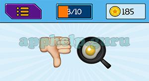 EmojiNation: Emojis Thumbs Down, Egg Answer