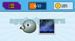 EmojiNation: Emojis Bird, Night Sky Answer