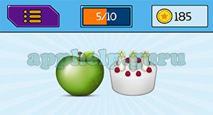 EmojiNation: Emojis Apple, Cake Answer