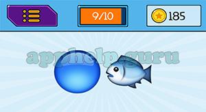 EmojiNation: Emojis Blue Circle, Fish Answer