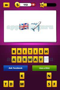 Guess The Emoji: Emojis British flag, Airplane Answer ...