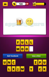 Guess the emoji beer and face