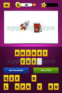 guess the emoji: emojis rocket, gas station pump answer