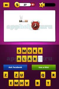 Guess The Emoji: Emojis Cigarette smoking, Alarm clock