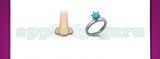 Guess The Emoji: Emojis Nose, Diamond ring Answer