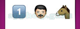 Guess The Emoji: Emojis Number one, Man wearing turban, Horse face Answer