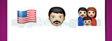 Guess The Emoji: Emojis North American flag, Man wearing turban, Family of mom dad and son Answer
