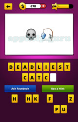 Guess The Emoji: Emojis Skull, Fish caught on fishing line ...