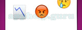 Guess The Emoji: Emojis Line graph with downwards trend, So mad you are turning red, Crying Answer