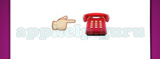 Guess The Emoji: Emojis Finger pointing right, Red telephone Answer
