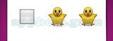 Guess The Emoji: Emojis Medium white square, Baby chick with body, Baby chick with body Answer