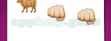 Guess The Emoji: Emojis Brown ox, Hand in fist, Hand in fist Answer