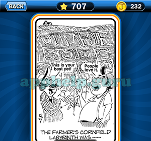 Just Jumble: Level 707 The farmers cornfield labyrinth was Answer