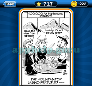 Just Jumble: Level 717 The mountaintop casino featured Answer