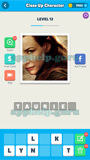 Close Up Character Level 13 Picture 5 Answer Game Help Guru