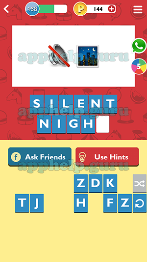 Guessup Emoji Level 168 Emoji 4 Answer Game Help Guru