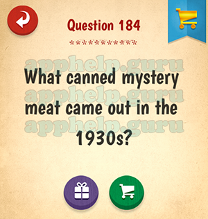 The American Quiz: Question 184 What canned mystery meat came out ...