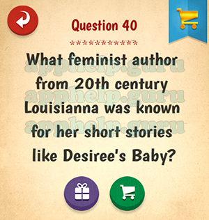 The American Quiz: Question 40 What feminist author from 20th