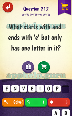 Riddle Quest: Riddle What starts with and ends with 'e' but