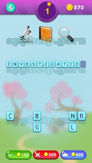 Emojination 3d Level 29 Puzzle 1 Microscope Books Magnefying