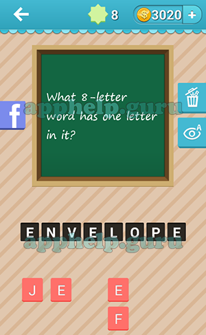 what word has the letters riddle me that fes riddle 8 what 8 letter word 151