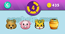 Emojination 3D: EmojiBooks 2 Puzzle 4 Bear, Pig, Tiger, Drum Answer