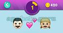 Emojination 3D: EmojiBooks 2 Puzzle 1 Man, Heart, Girl Answer