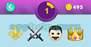 Emojination 3D: EmojiBooks 5 Puzzle 1 Banana, Sword, Man, Crown Answer