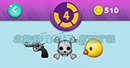 Emojination 3D: EmojiBooks 5 Puzzle 4 Gun, Danger, Penguins Head Answer