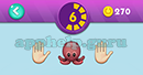 Emojination 3D: Level 15 Puzzle 6 Hand, Octopus, Hand Answer