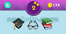 Emojination 3D: Level 31 Puzzle 2 Degree Hat, Glasses, Books Answer