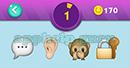 Emojination 3D: Level 31 Puzzle 1 Message Pop Up Box, Ear, Monkey, Lock Answer