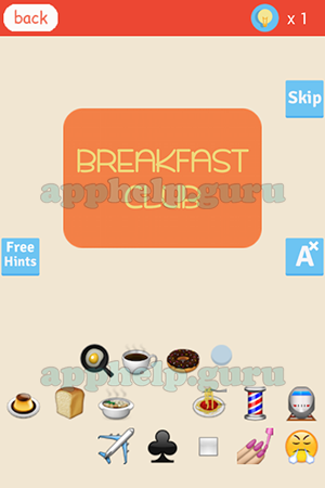 Find The Emoji Level Breakfast Club Answer Game Help Guru
