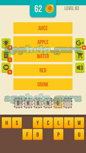 Guess Word 5 Clues Almond Studio Level 63 Answer Game Help Guru