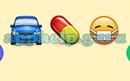Emoji Combos: Emojis Car, Pill, Sick Answer