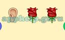 Emoji Combos: Emojis Ears, Rose, Rose Answer