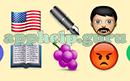 Emoji Combos: Emojis Usa, Pen, Man, Book, Grapes, Angry Answer