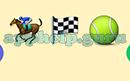 Emoji Combos: Emojis Horsebackriding, Checkered Flag, Tennis Ball Answer