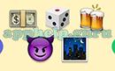 Emoji Combos: Emojis Money, Dice, Beers, Demon, Night Answer