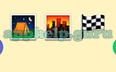 Emoji Combos: Emojis Camp, City, Race Flag Answer