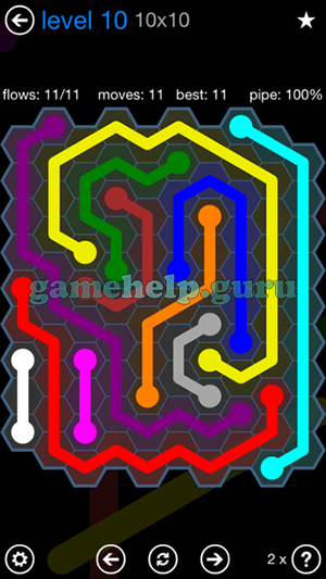 Flow Free Hexes 9x9 Mania Level 10 Answer Game Help Guru