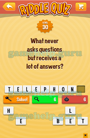 Riddle Quiz (Tappeal): Level 30 What Never Asks Questions