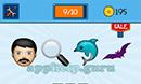 EmojiNation: Emojis Man, Magnifying Glass, Dolphin, Bat Answer