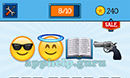 EmojiNation: Emojis Smiley with Sunglasses, Angel, Book, Gun Answer